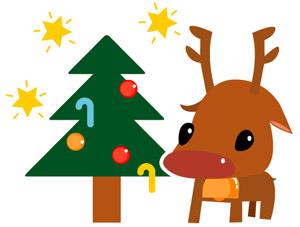 子供トナカイもクリスマスが大好き^^