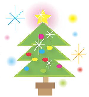 エッジの利いたクリスマスツリーイラスト
