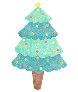 イラストボックスから可愛いクリスマスツリー