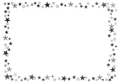 イラストボックスの白黒枠1