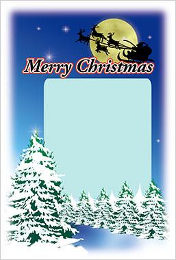 サンタの国~クリスマスカード~ 写真入りポストカード2