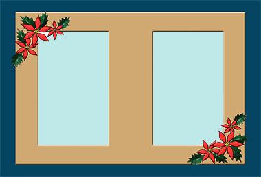 無料クリスマス素材館のフォトフレーム1