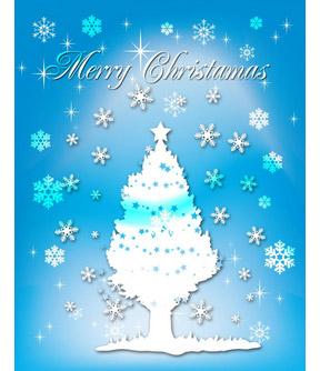 雪のホワイトクリスマス