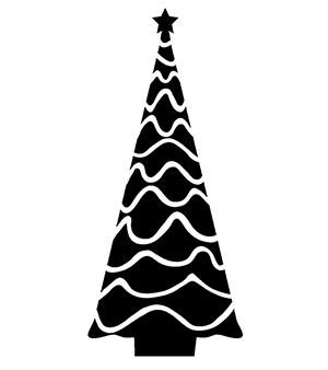 シルエットAC 白黒素材2