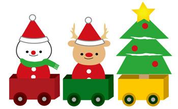 イラストわんパグのクリスマス素材1