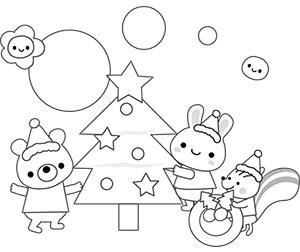 クリスマスの塗り絵