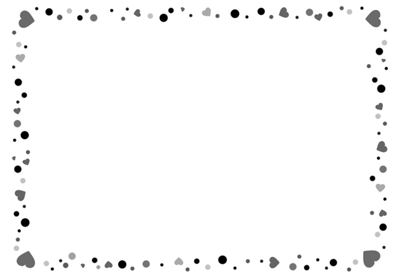 イラストボックスの白黒枠2