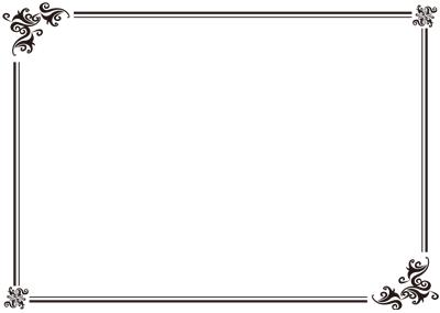 カリグラフィ草フレーム
