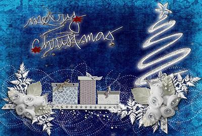 スタイリッシュでクリスマスムード満点のメッセージカード