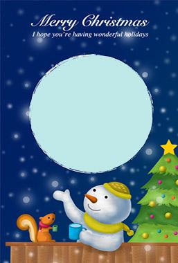 ペーパーミュージアムの本格的なクリスマスカード1
