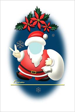 無料クリスマス素材館のフォトフレーム2