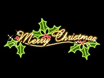 ネオン調のクリスマスロゴ