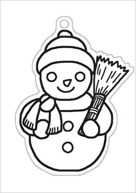 冬の季節イラスト塗り絵
