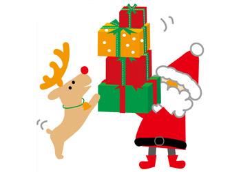 イラストわんパグのクリスマス素材2